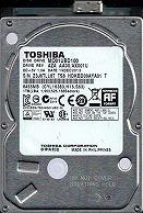 東芝製ハードディスクMQ01UBD100表面